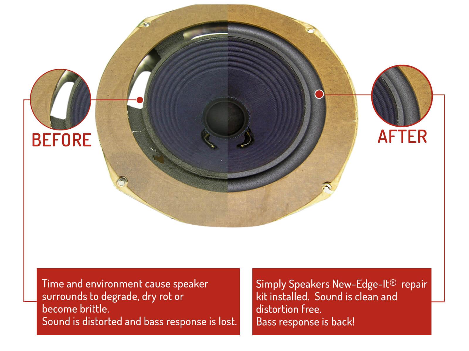 Repair speaker foam