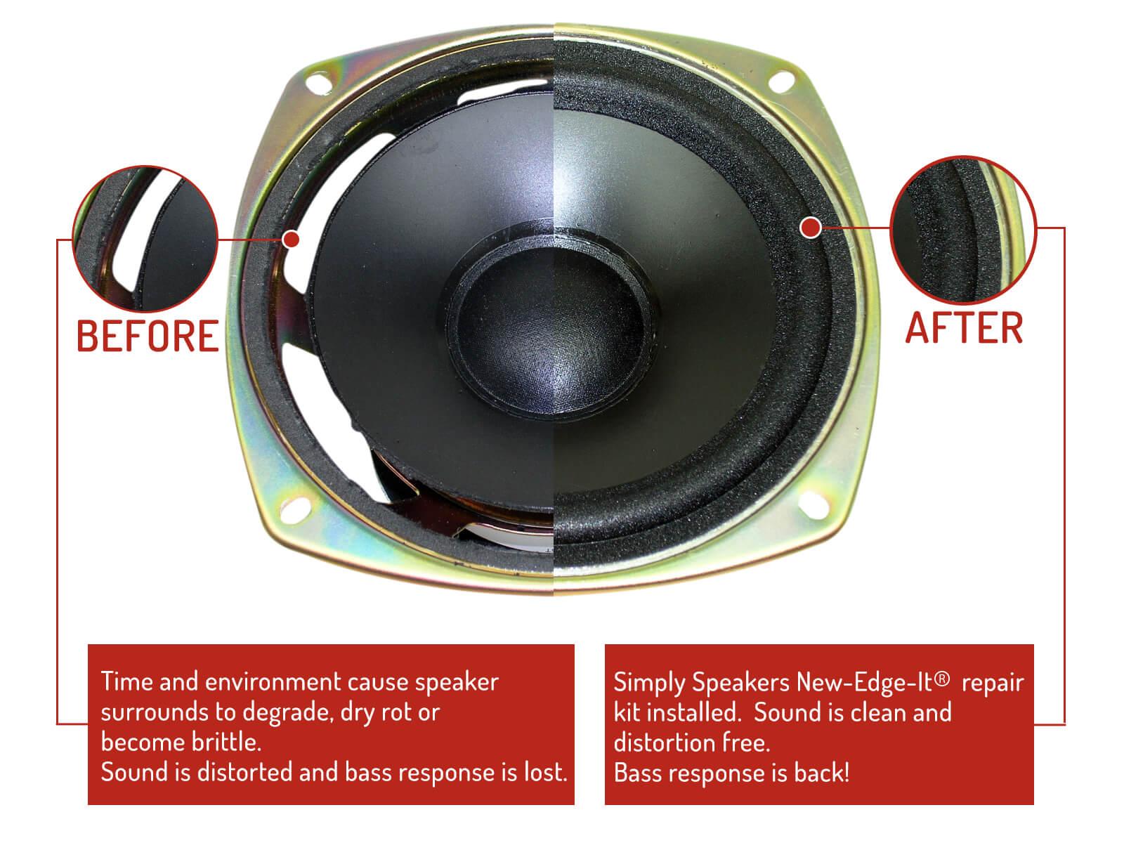 Boston Acoustics Speaker Foam Edge Repair Kit 6 Quot Boston