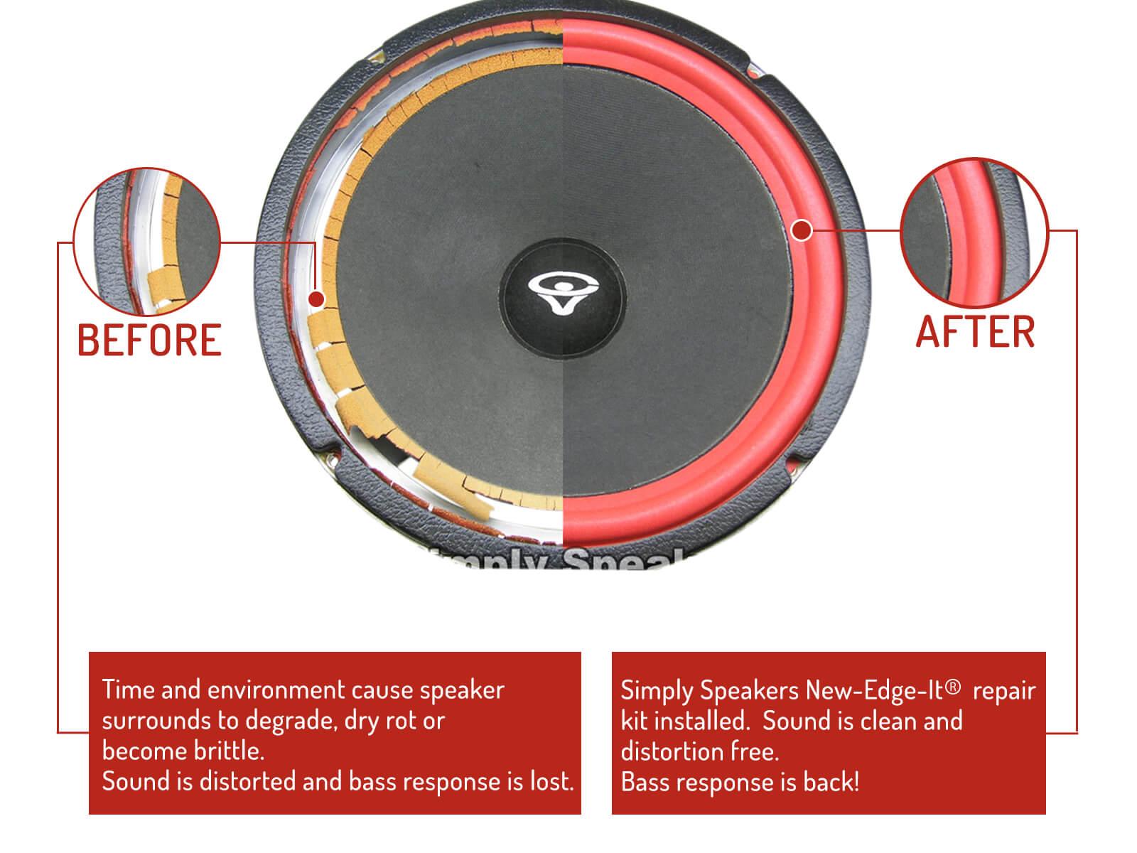 Cerwin Vega Speaker Foam Edge Repair Kit 10 Quot Fsk 10ar