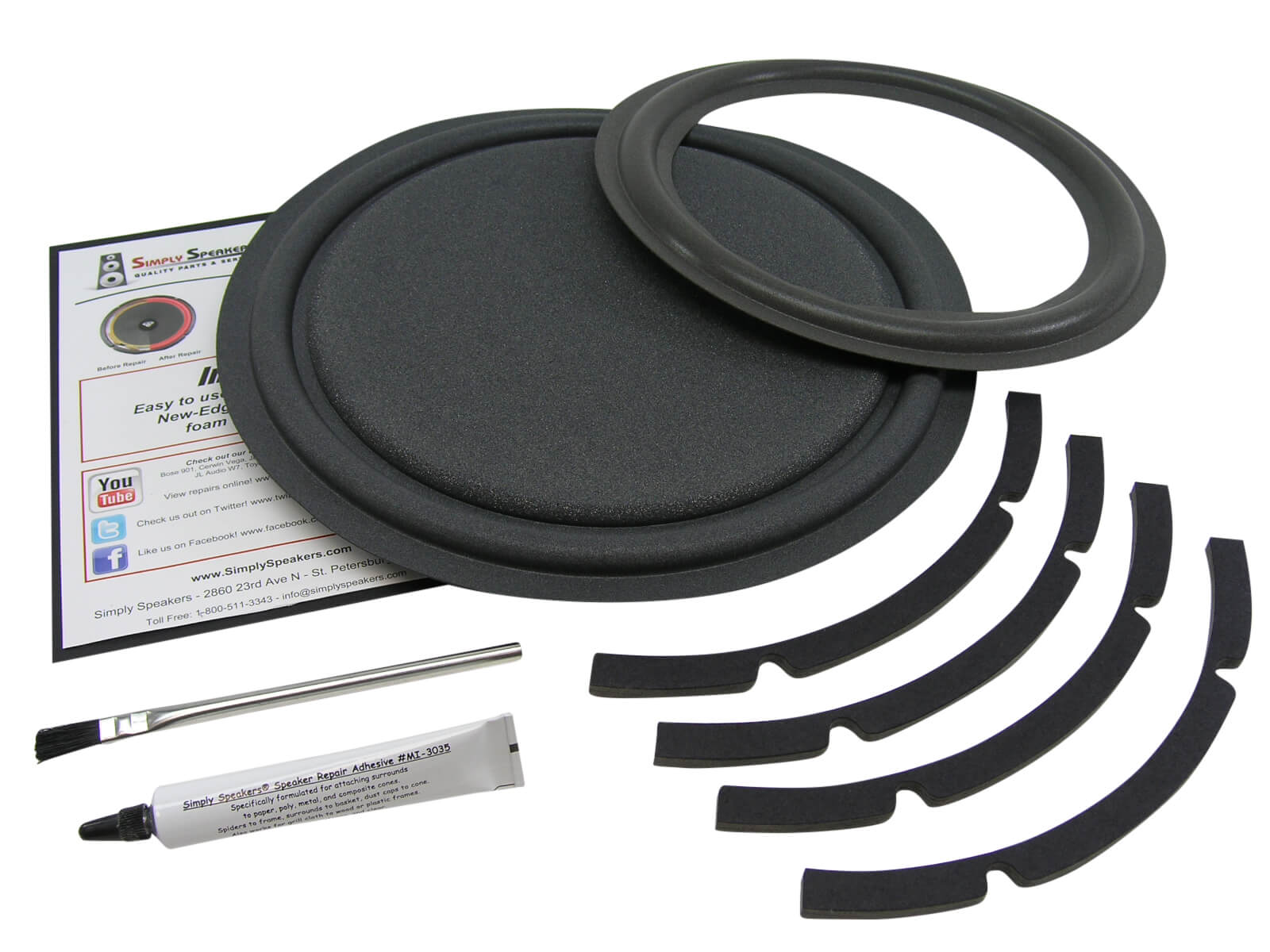 Velodyne VA1012 Subwoofer Foam Edge Repair Kit