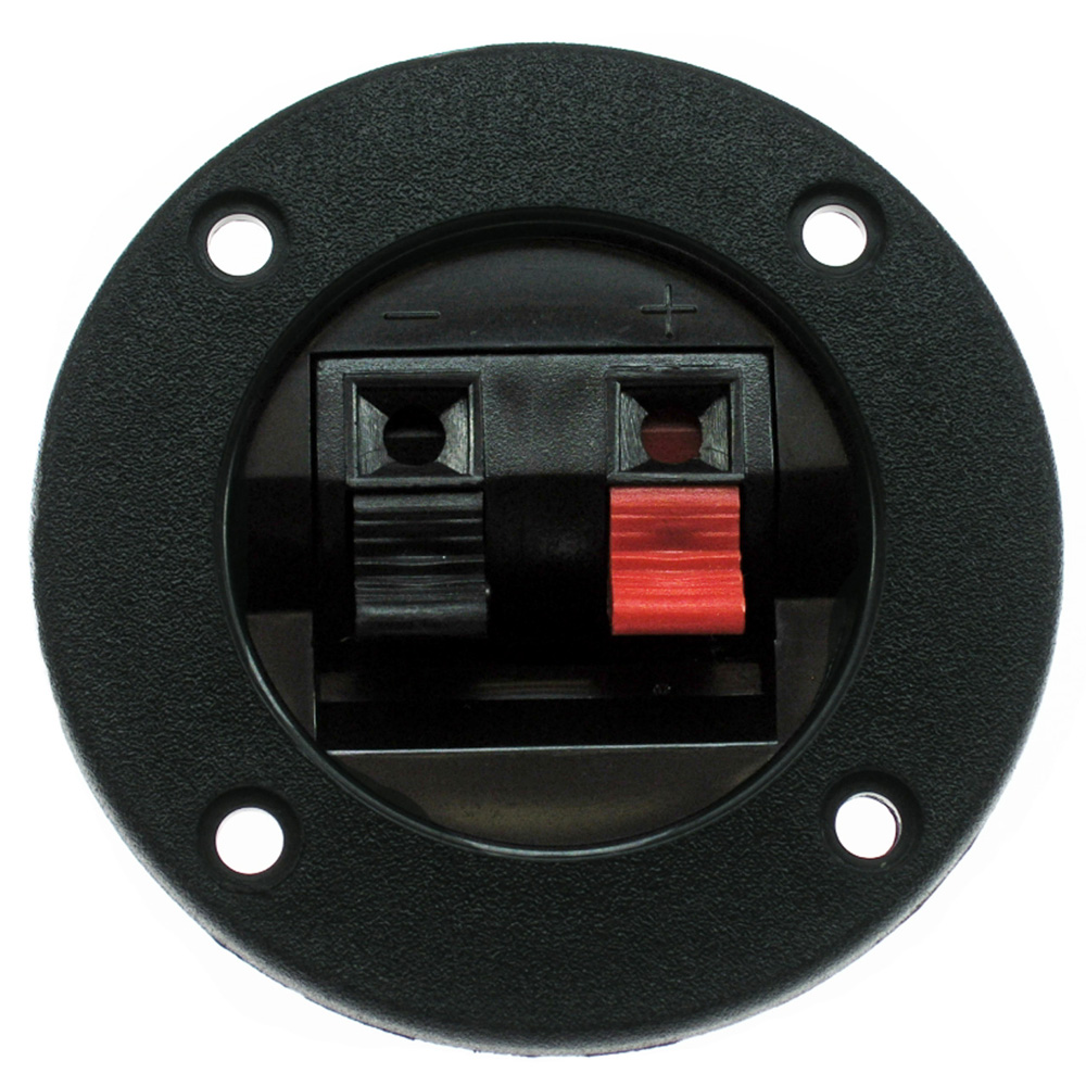 Speaker Spring Terminal Connector Black And Red Push Tabs