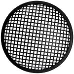 "Metal Waffle Speaker Grill, Black Steel, Rubber Edge, 6"", SWG-6"