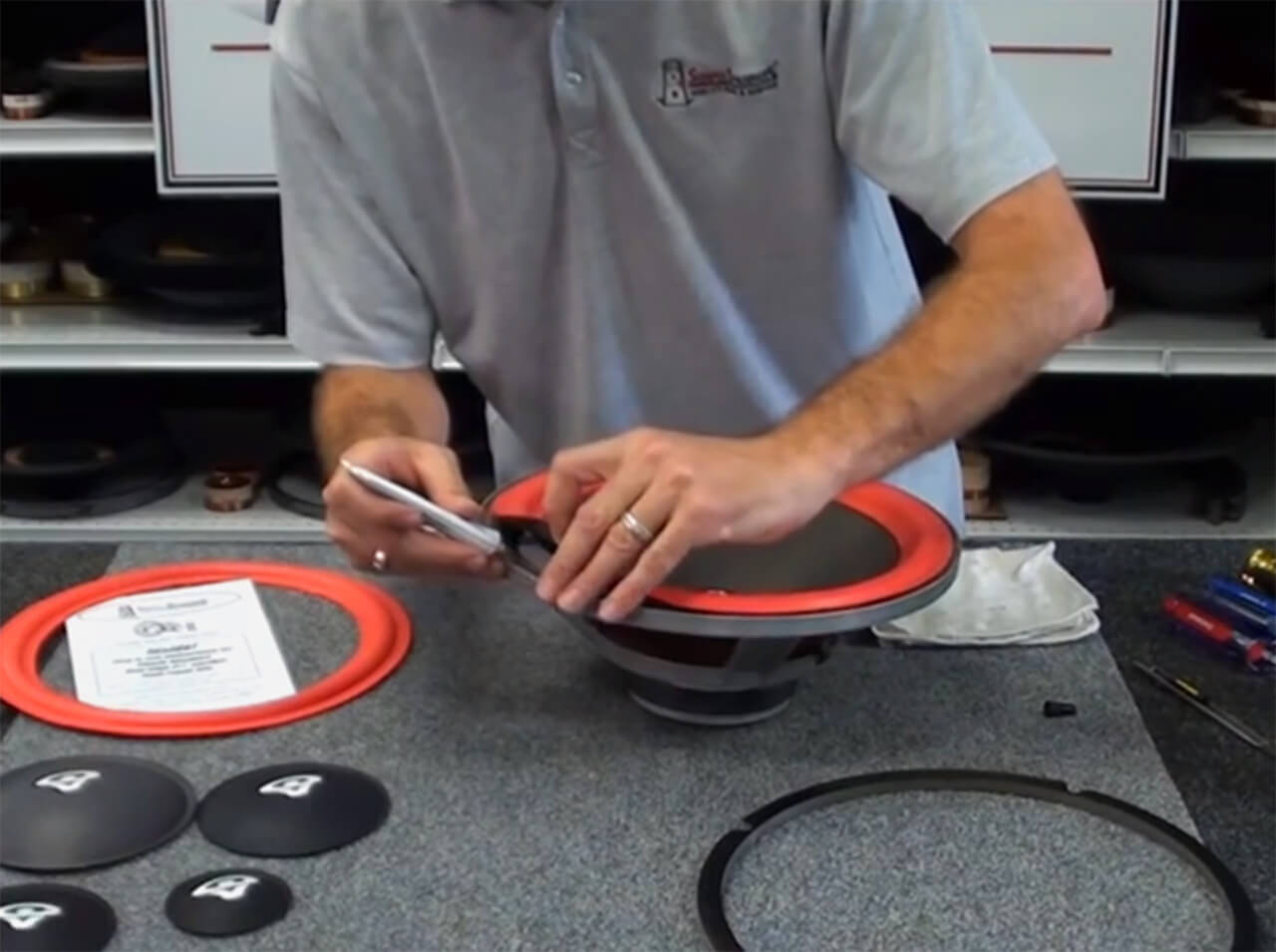 Cerwin Vega Speaker Foam Edge Repair Kit 8 Quot Fsk 8ar