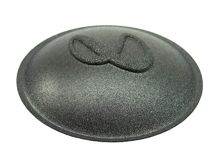 "Speaker Dust Cap, Infinity Logo, Foam Layer Over Screen, 3.5"", DC-3.5INF"