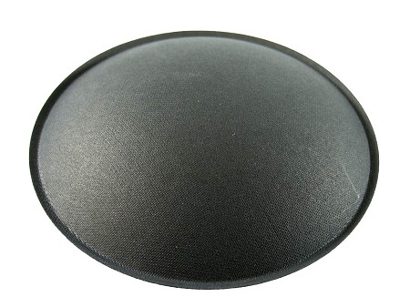 "Speaker Dust Cap, 4.25"" Black Paper, With Lip, DC-4.25P"