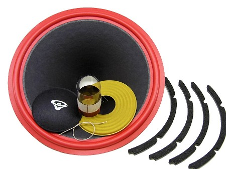 "SS Audio Recone Kit for 15"" Cerwin Vega 154W, 8 Ohms, RK-CV154W"
