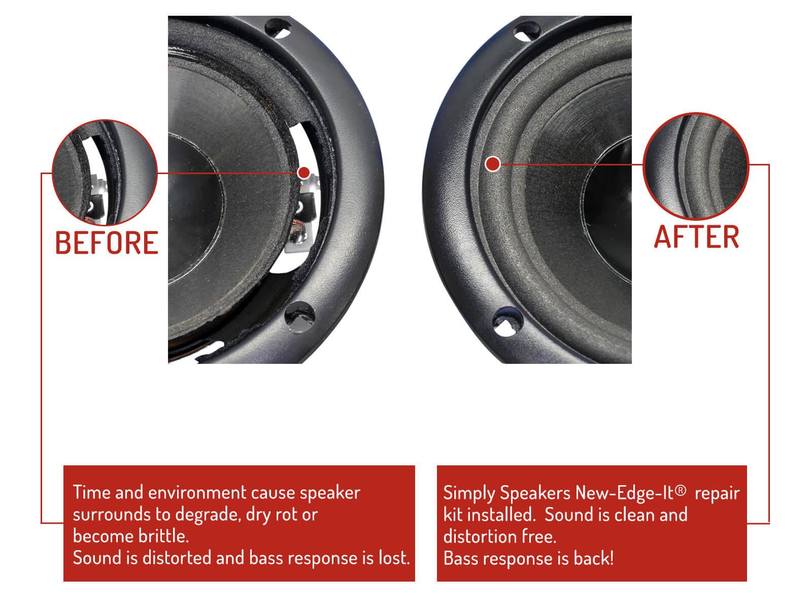 Five 50 Midrange Speaker Foam Repair Kit # FSK-5Ji Six Infinity Reference 40