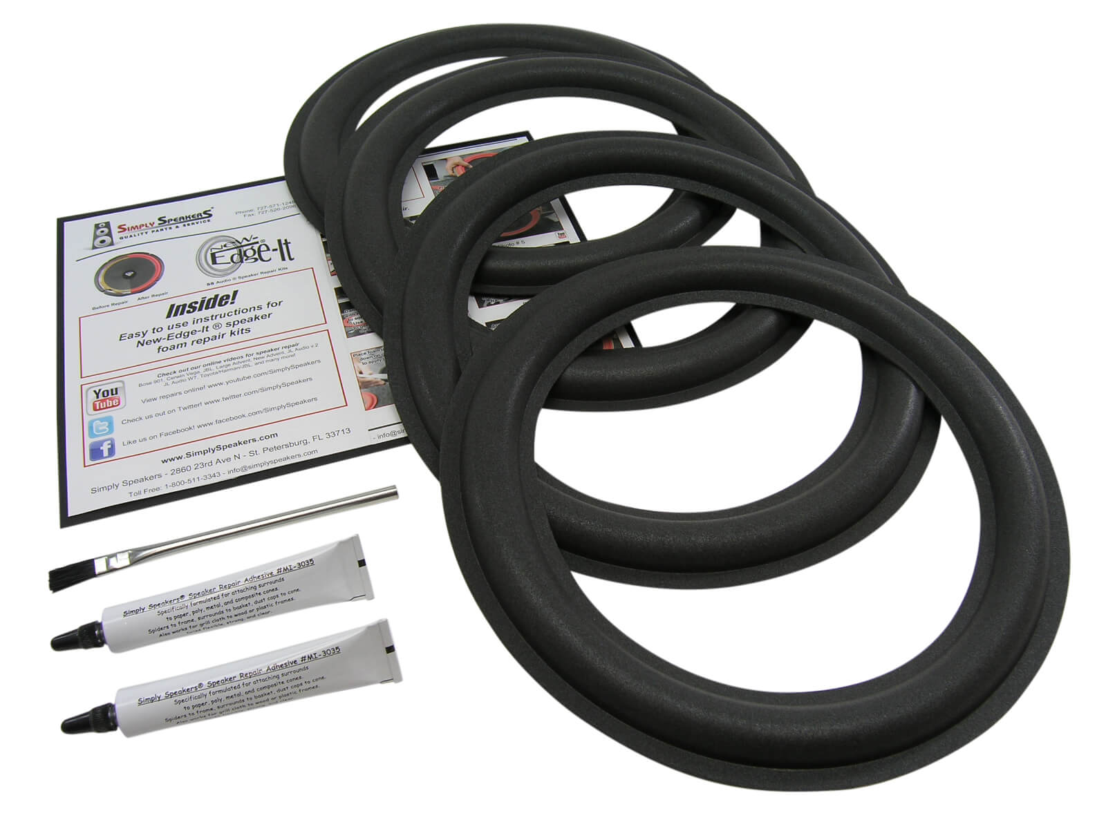 Carver Speaker Foam Edge Repair Kit 4 Pack