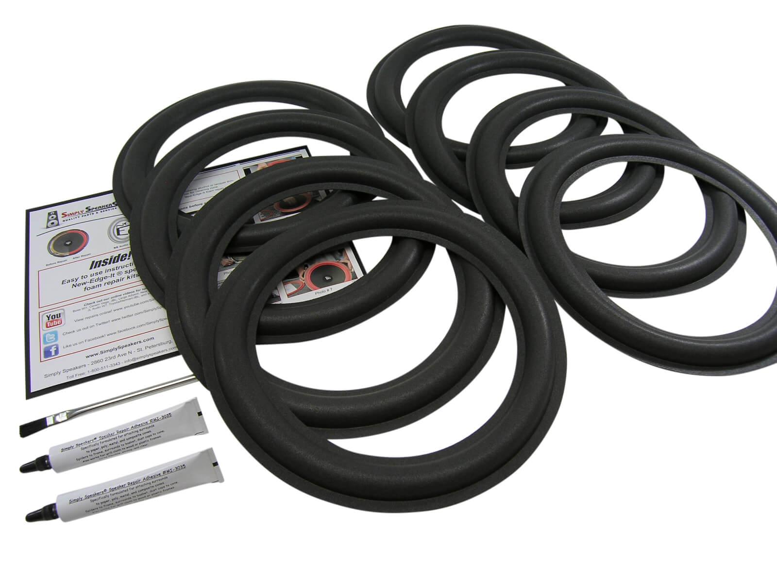 speakers 12. carver speaker foam edge repair kit 8 pack speakers 12