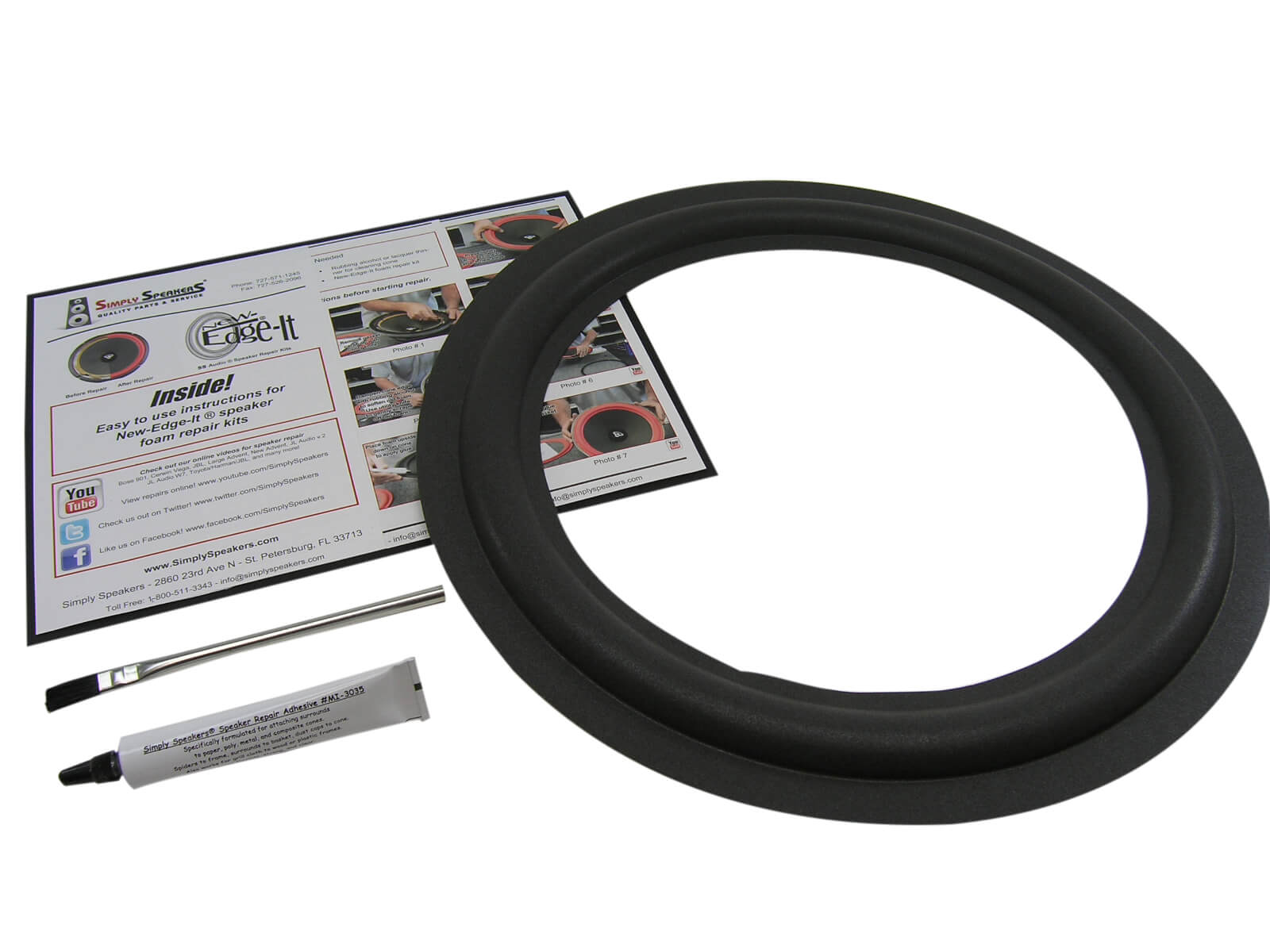 "15"" Speaker Foam Edge Repair Kit"