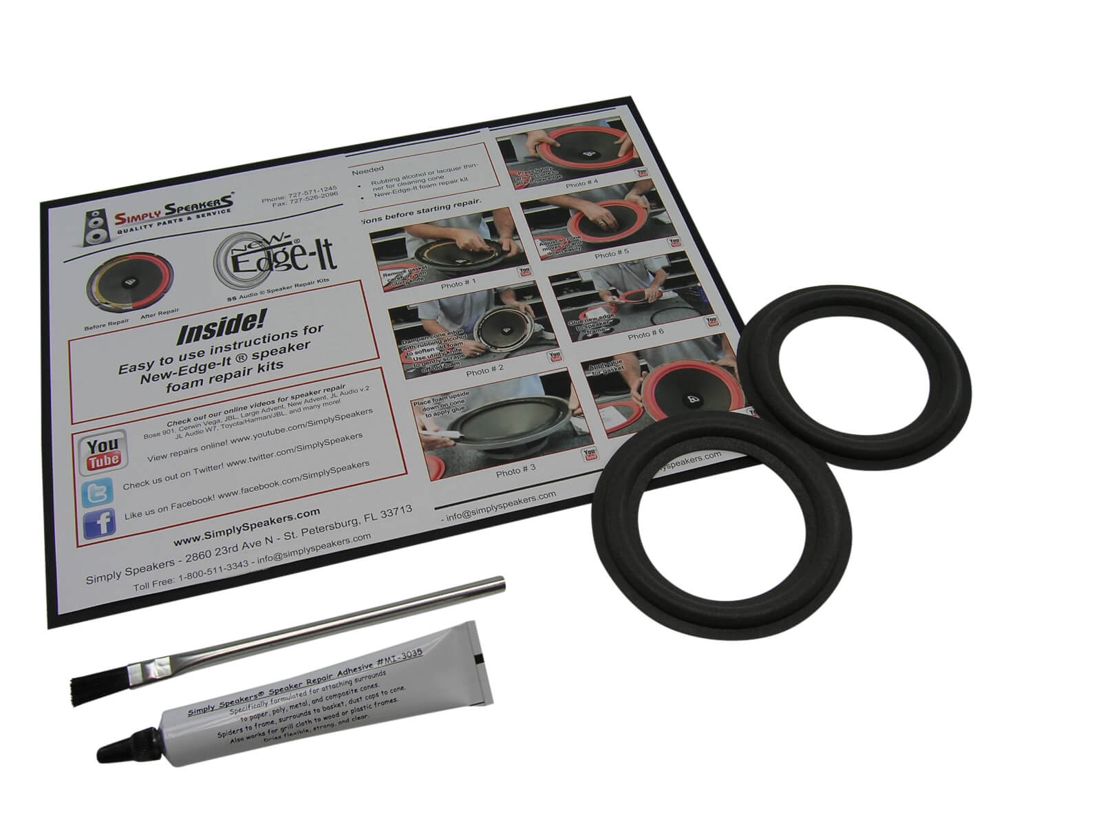 Dahlquist Speaker Foam Edge Repair Kit