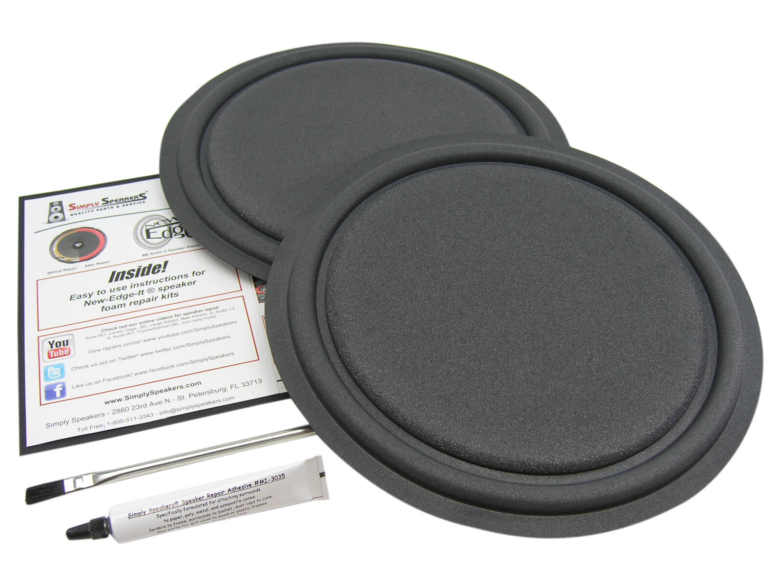 ESS Speaker Passive Radiator Repair Kit