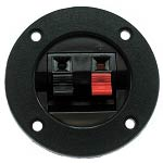 Speaker Terminal, Black and Red Spring Tabs, RDK-24