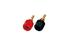 Speaker Terminals, Black and Red Binding Posts, Gold, TP-155