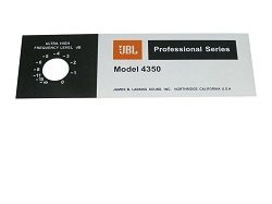 JBL Style Replacement Foil Badge for 4350 Speaker