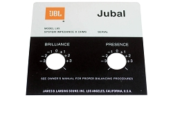 JBL Style Replacement Foil Badge for Jubal L65 Speaker