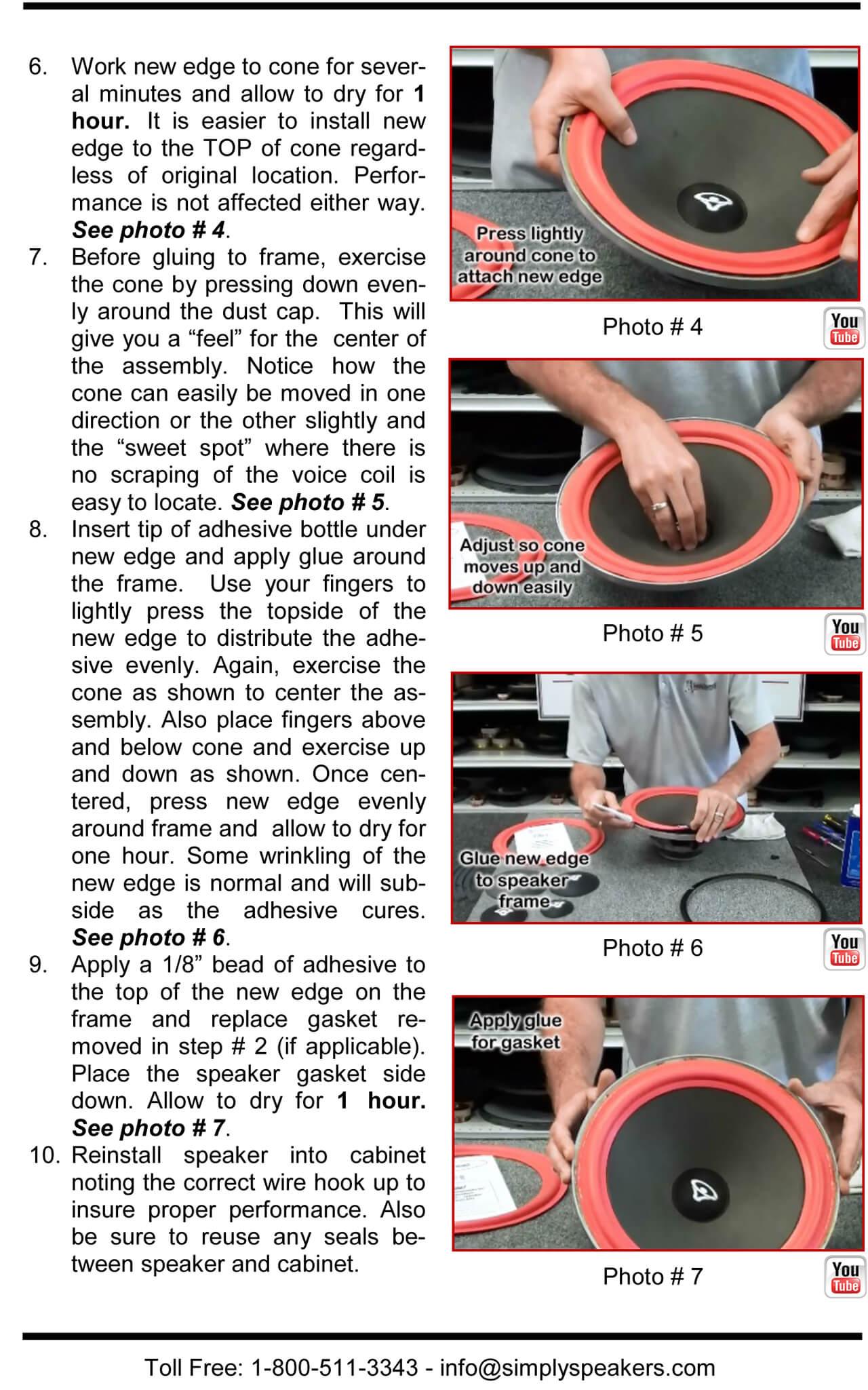 Pair BMW 5 Inch Foam Speaker Repair Kit FSK-5L