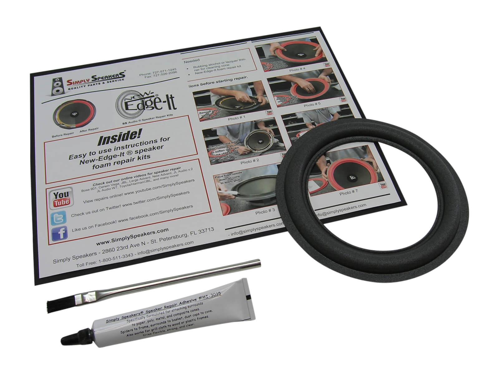 Universal Speaker Surround Repair Foam Woofer Edge Repair Pa newJKUS