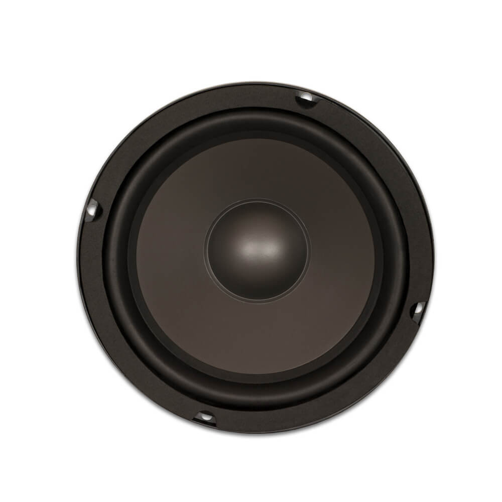 8 heavy duty replacement woofer poly mica cone rubber edge 8 ohm. Black Bedroom Furniture Sets. Home Design Ideas