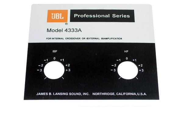 JBL Style Replacement Foil Badge for 4333A Speaker