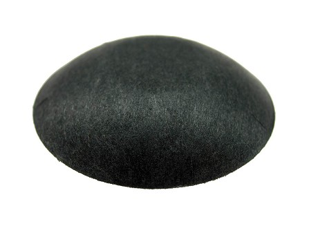 "Speaker Dust Cap, 1.75"" Black Paper, DC-1.75P-Flat"