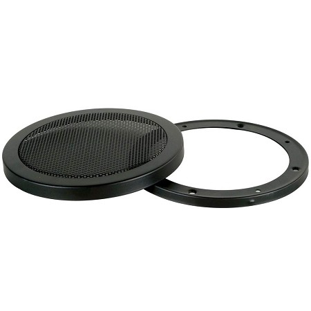 "4"" - 5.5"" Metal Mesh Speaker Grill, Black Steel, 2 Piece, SG-M4"