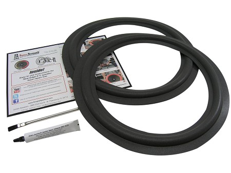 "Radio Shack 15"" Foam Speaker Repair Kit, Mach 2, Mach 3, FSK-15MACH2 (PAIR)"