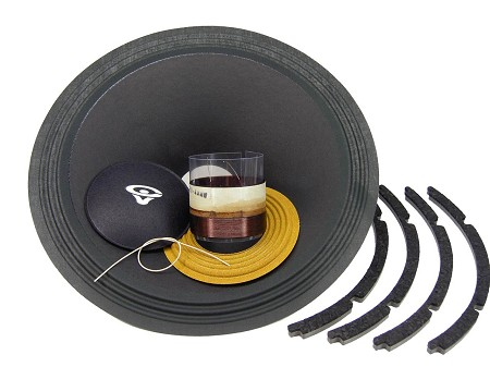 "SS Audio Recone Kit for 15"" Cerwin Vega SW154, 4 Ohms, RK-CVSW154-4"