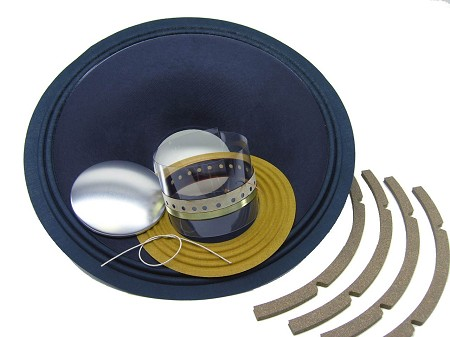 "SS Audio Recone Kit for 15"" JBL D130, E130, K130, 8 Ohms, RK-JBLE130-8"